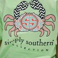 PREPPY CRAB Simply Southern T-Shirt - Kids