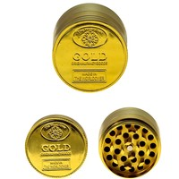 Jumbo 4 inch Gold Herb Grinder
