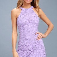 Love Poem Lavender Lace Dress