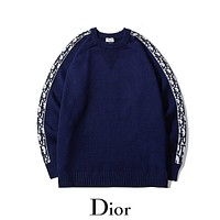 Dior autumn and winter new pullover sweater men and women fashion warm long-sleeved sweater
