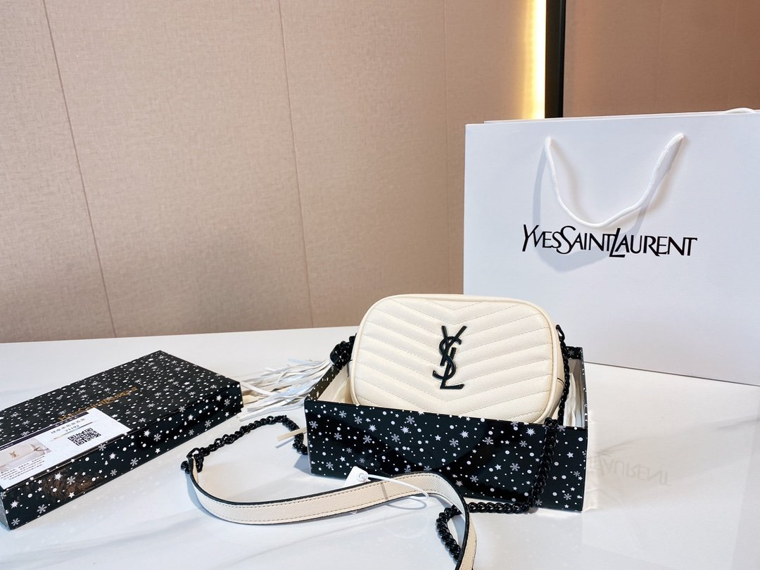 Image of YSL Women's fashion Leather Shoulder Bag Satchel Tote Bags Crossbody 0710