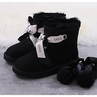 UGG Double ribbons, changeable bows, two series of boots