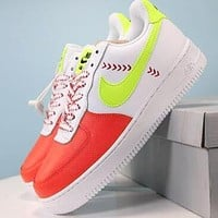 Nike Air Force 1 Low L.V.8 SPRB White Volt-Team Orange-Black Women Sport Shoes Sneakers