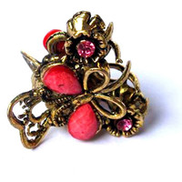 New 2017 Retro Style Steampunk Mini Butterfly Alloy Hair Clip