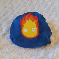 Calcifer - Howl's Moving Castle Cloth Diaper Cover or Pocket Diaper - One-Size or Newborn, S, M, L