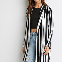 Multi-Stripe Open-Front Jacket