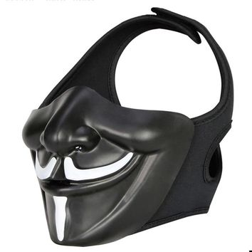 New Style Tactical Airsoft Cool Half-Face Mask Paintball Mask Halloween Mask Attractive Masquerade Party Face Mask