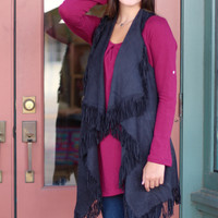 Fringe with Benefits Vest {Black}