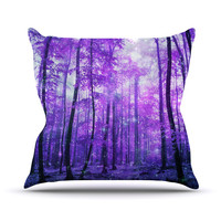 "Iris Lehnhardt ""Magic Woods"" Purple Forest Throw Pillow"