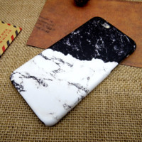 Cool Black & White Marble iPhone7 7 Plus & 6 6s Plus &5 5s Se Cover Case Best Gift 009