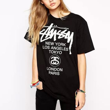 Front And Back Letters Print T-Shirt