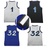 retro Tracy McGrady jersey Penny Hardaway 1# shaquille o'neal 32# cheap throwback basketball jerseys 9 colors fast free shipping