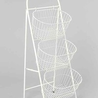 Ladder Storage Basket- White One