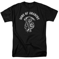 SONS OF ANARCHY/SOA REAPER-S/S ADULT 18/1-BLACK-2X