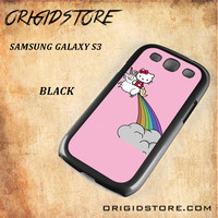 HELLO KITTY UNICORN Snap on 2D Black and White Or 3D Suitable With Image For Samsung Galaxy S3 Case