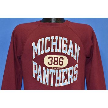 80s Michigan Panthers USFL Sweatshirt Medium