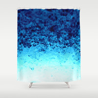 Blue Crystal Ombre Shower Curtain by 2sweet4words Designs