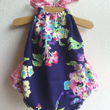 Water Bouquet Baby Girl Romper
