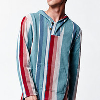 On The Byas Dude Striped Long Sleeve Hooded Poncho Shirt at PacSun.com
