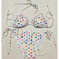 LV Bikini Set Bathing Suits With Halter Strap Swimwear