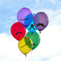 Moustache Sticker Pack for Movember, Balloons, Coffee Cups, Car Window, Binders or For parties