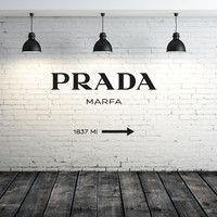 Wall Decal Vinyl Sticker Decals Art Decor Design Prada  Marfa Fashion Girls Living room Bedroom Modern Mural Fashion (r1210)
