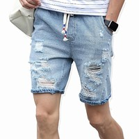 Men's cotton thin denim shorts New fashion summer male Casual short jeans Soft and comfortable casual shorts