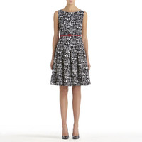 Jones New York: Black and White Fit and Flare Dress