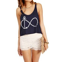 Navy Infinite Anchor Tank