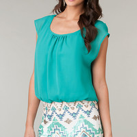 Short Casual Dress with Print Skirt