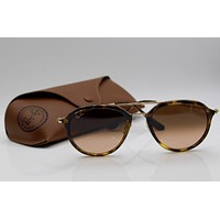 Ray-Ban RB4253 710/A5 Gold;Tortoise / Pink/Brown Gradient HIGHSTREET 53mm Pilot