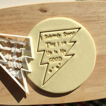Solemnly Swear Harry Potter Cookie Cutter HP Cookie Cutter Cupcake topper Fondant Gingerbread Cutters Solemnly Mischief Cookie Cutter
