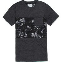 On The Byas Wiley Pieced Crew T-Shirt - Mens Tee - Gray -