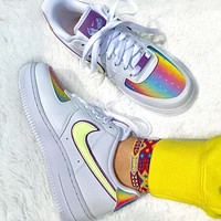 """Nike Air Force 1 """"Easter"""" low-top skateboard shoes"""