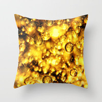sunny bubbles  Throw Pillow by Marianna Tankelevich   Society6