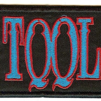 Tool Iron-On Patch Rectangle Letters Logo