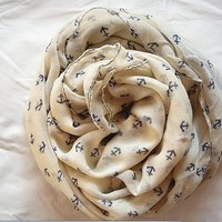 Little Anchors Infinity Scarf (camel)