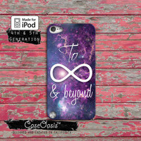 To Infinity Symbol And Beyond Space Galaxy Cute Stars Case iPod Touch 4th Generation or iPod Touch 5th Generation Rubber or Plastic Case