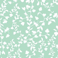 White Flowers Romantic Garden Multicolored Wallpaper Reusable Removable Accent Wall Interior Art (wal017)