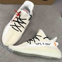 Off-White x Adidas Yeezy Boost 350V2 Sneakers Sport Shoes B-CSXY Beige