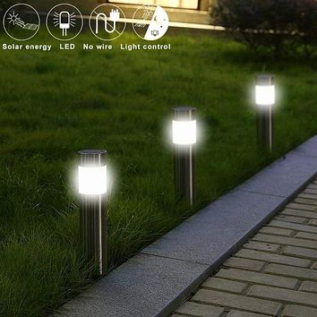 Stainless Steel Solar Outdoor Garden Path Lawn Light