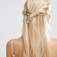 ASOS | ASOS WEDDING Back Draping Crystal Hair Crown at ASOS