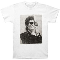 Bob Dylan Men's  Performing T-shirt White