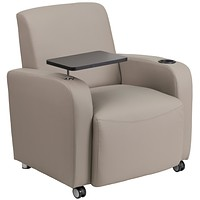 Guest Chair with Tablet Arm and Front Wheel Casters