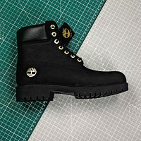 Timberland Black With Gold C Truck Boots