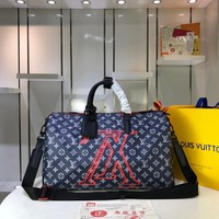 Kuyou Lv Louis Vuitton Gb2974 M43862/m43863 Keepall  Travel Bag With Shoulder Strap