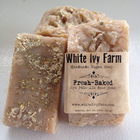 Fresh Baked Natural Vegan Soap Moisturizing Oatmeal and Beer Soap Wedding Favor Gift, Bachelor Party Favor, Mens Gift Idea, Bridesmaid Gift