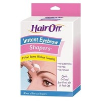 Hair Off Instant Eyebrow Shapers, 18 Sets per Pack, (Case of 6)