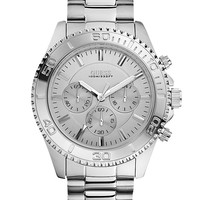 Silver-Tone Sportwise Chronograph Watch at Guess