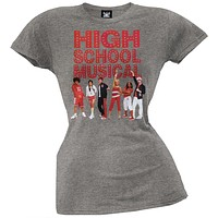 High School Musical - Get In The Game Grey Juniors T-Shirt